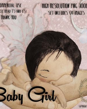 Watercolor Baby Girl Clipart   Angel Baby   Cute Fairy   Baby Shower   PNG Images