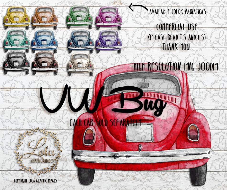 Painting Set of 5  Vintage Automobile Car Truck  s  Download PNG  for Print PERSONAL USE or add Commercial  license @ checkout