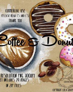 hand painted coffee printables