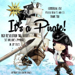 hand painted pirate clipart