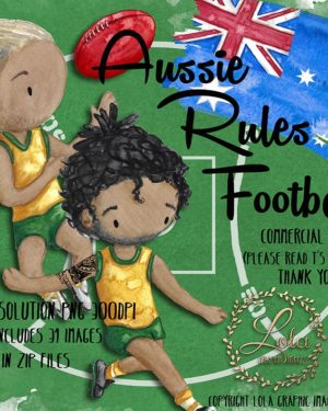 hand painted aussie rules png