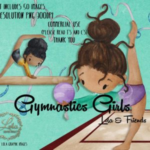 Watercolor Gymnastics Girls Lola And Friends Clipart | Cute Gym Girls Art | Dance | PNG