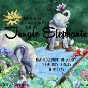 baby elephants in the jungle