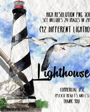 st augustine lighthouse clipart