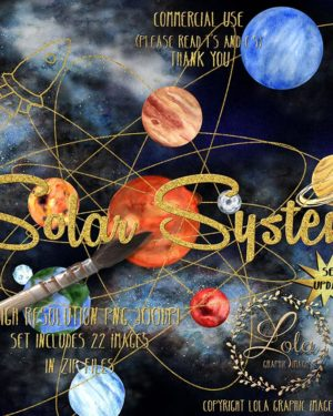 hand painted solar system