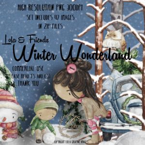 hand painted winter clipart