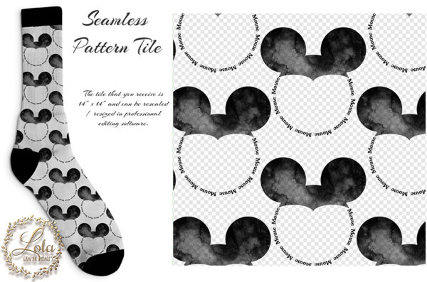 mouse ear seamless patter
