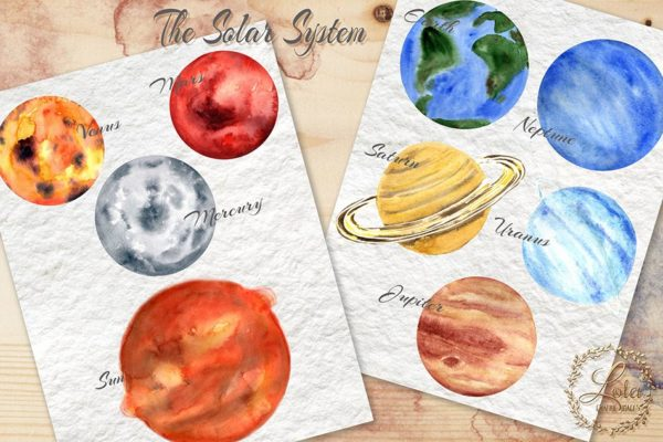 hand painted planets
