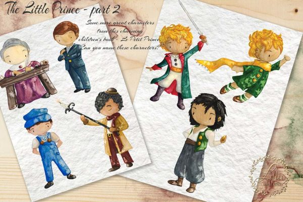 little prince character clipart
