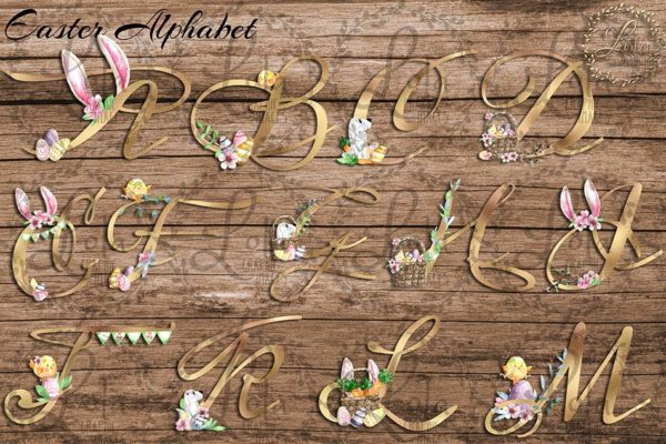 hand painted alphabets