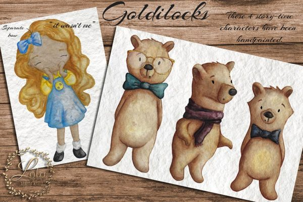 goldilocks and the 3 bears png images