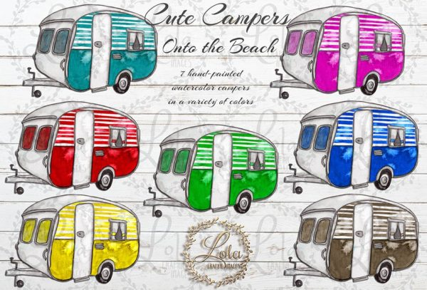 hand painted campers