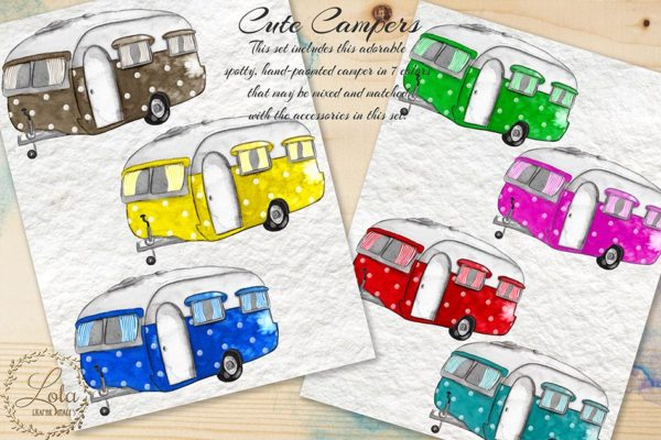hand painted camper png images