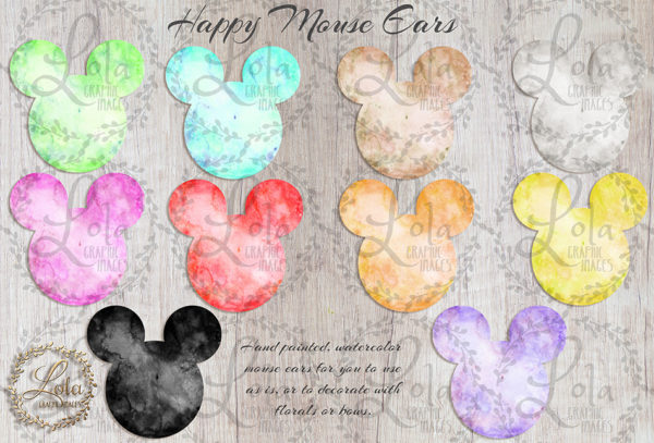 hand painted mouse ears