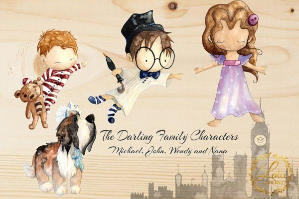 wendy darling and brothers png