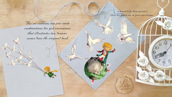 little prince clipart planets
