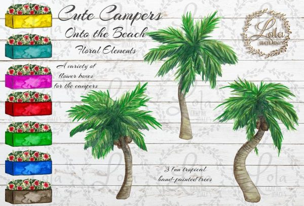 tropical trees clipart graphics