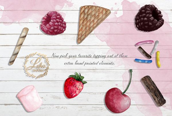 ice cream toppings graphics
