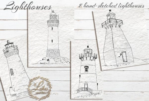 hand drawn lighthouse png