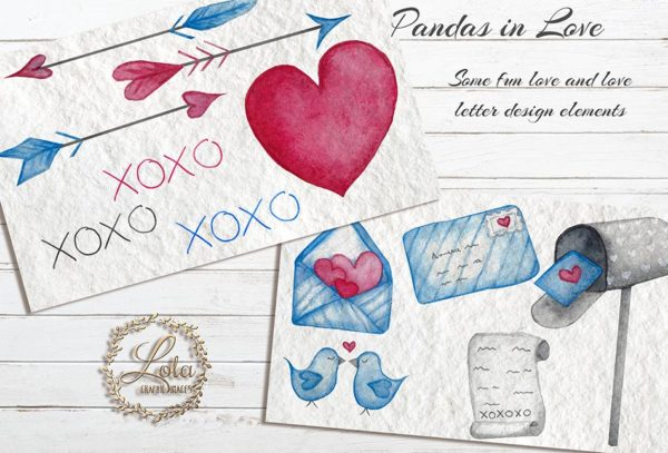 hand painted love letter png