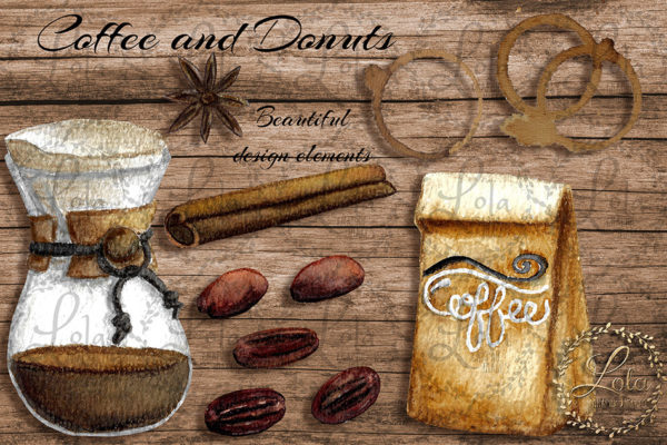 hand painted coffee png images