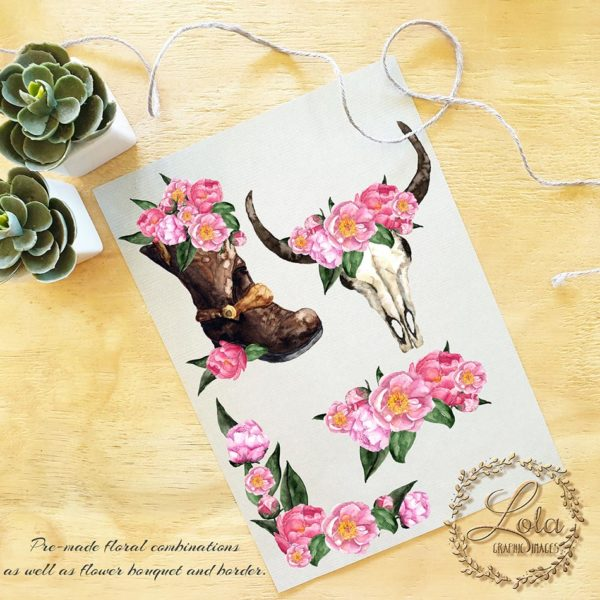 cowgirl boot clipart