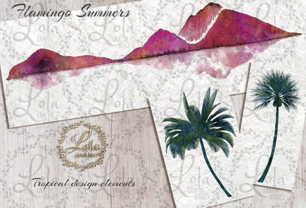 hand painted tropical scenery