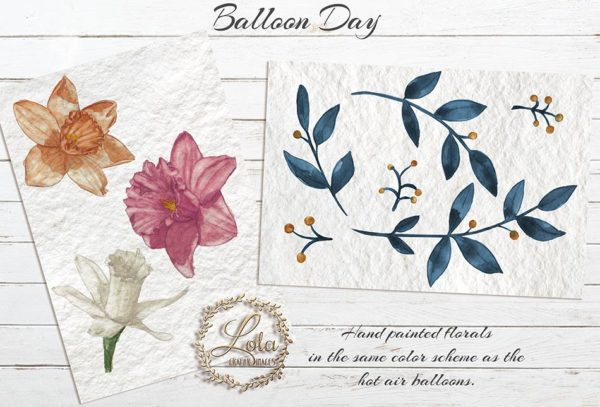 hand painted flowers clipart