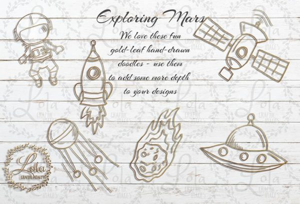 space mars solar system doodle drawing