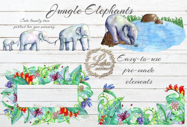 hand painted elephant png