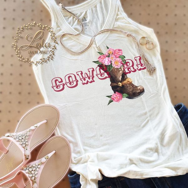 cowgirl sublimation design