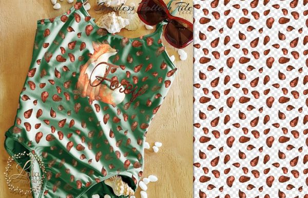 fox sublimation seamless pattern