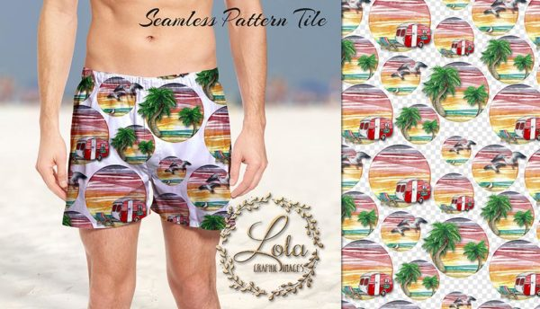 tropical surface pattern design