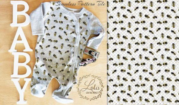 bee surface patter design