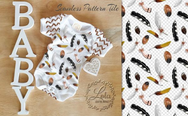 feather surface pattern design