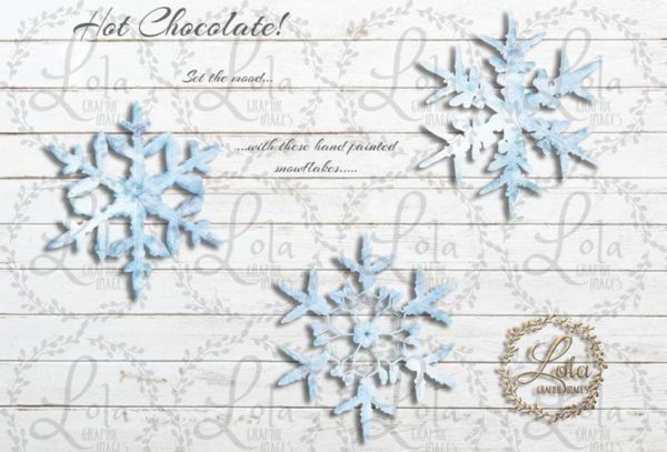 hand painted snowflakes
