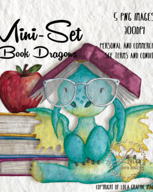 hand painted dragon clipart